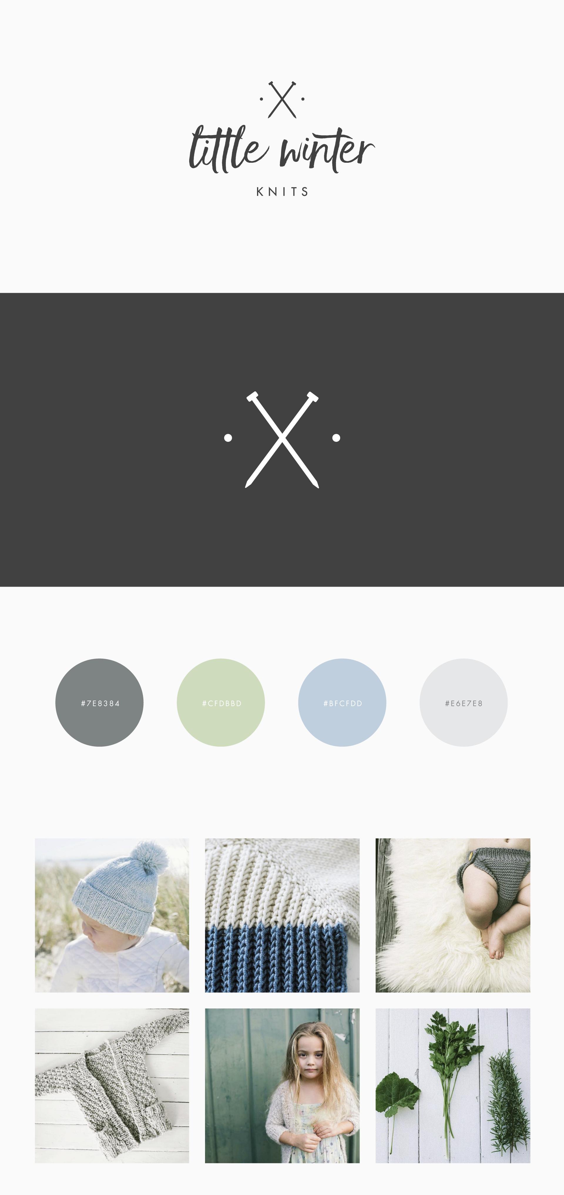Raewyn Brandon graphic design - Little Winter Knits brand design