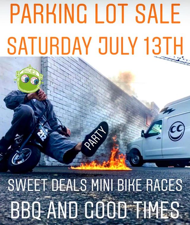 That's right folks! We are having a parking lot sale this Saturday July 13th. We'll be grilling up some food, racing mini bikes and slashin' prices. So stop in and partake in the good times! . . . . #seeseeriders #seeseektmofportland #party #bbq #pnwmoto #pnwmotocross #goodtimes #minibikes