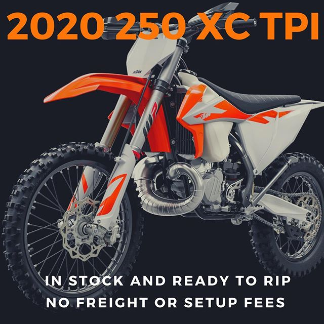 The 2020 250 XC TPI is here and it is beautiful! Come in and check one out before they are long gone. No freight or set up fees and easy financing.