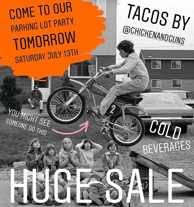 Good times tomorrow! Come by and hang out with us, enjoy some tacos, have a cold beverage, race a mini bike and pick up some discounted gear. Starting at 10am and going to 6pm. . . . #pnwmoto #pnwmotocross #seeseeriders #ktmofportland #party #minibikes #goodtimes