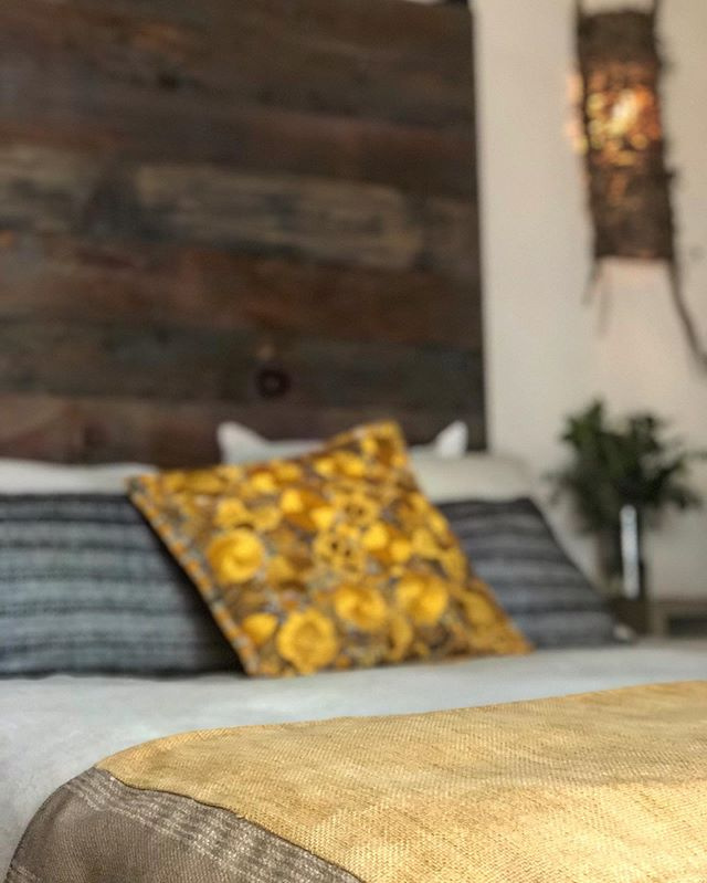 We love our mexican textiles✨ unique pieces in every room #fincaladivina #bedandbreakfast #houserental #valledeguadalupe #baja #mexico