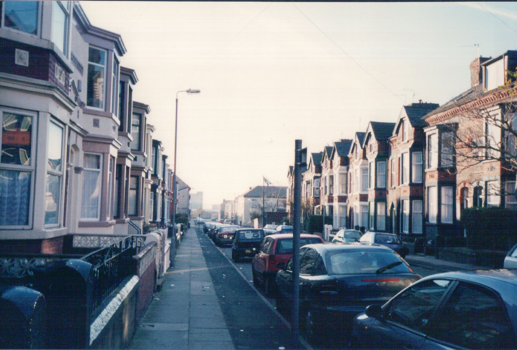 The street in Bootle in which Herbert Stone lived in 1912