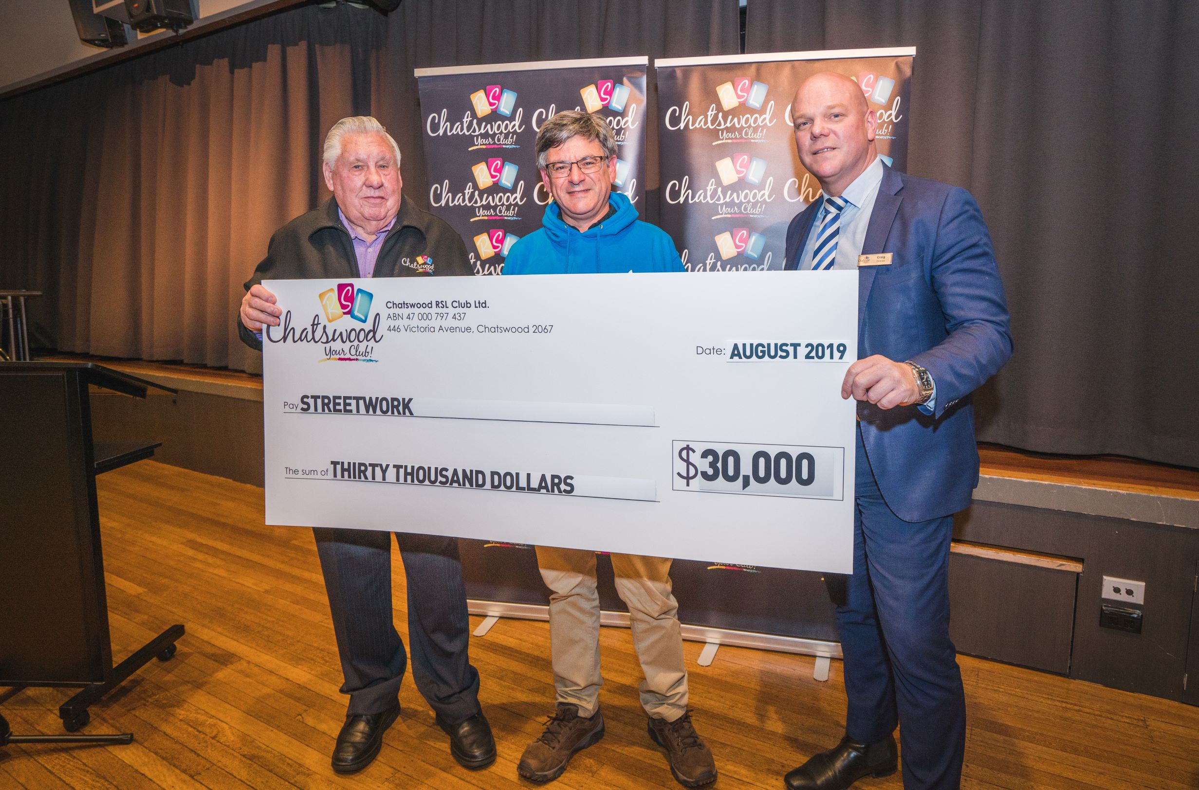 Chatswood RSL cheque presentation August 2019 .jpg