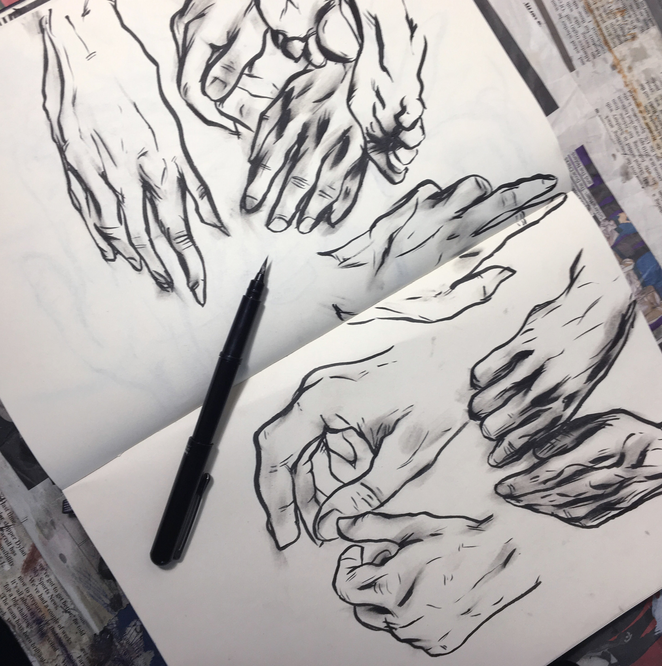 hand practice using a brush pen (2018)