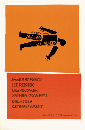 This is the film poster Saul Bass designed for Anatomy of a Murder (1959). It was the main inspiration for the look of my short film. I adapted the colors and style, including the sketchy pastel border, and fused it with my love of Japanese animation.