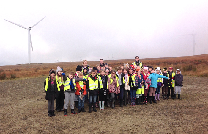 Students at Scout Moor Wind Farm