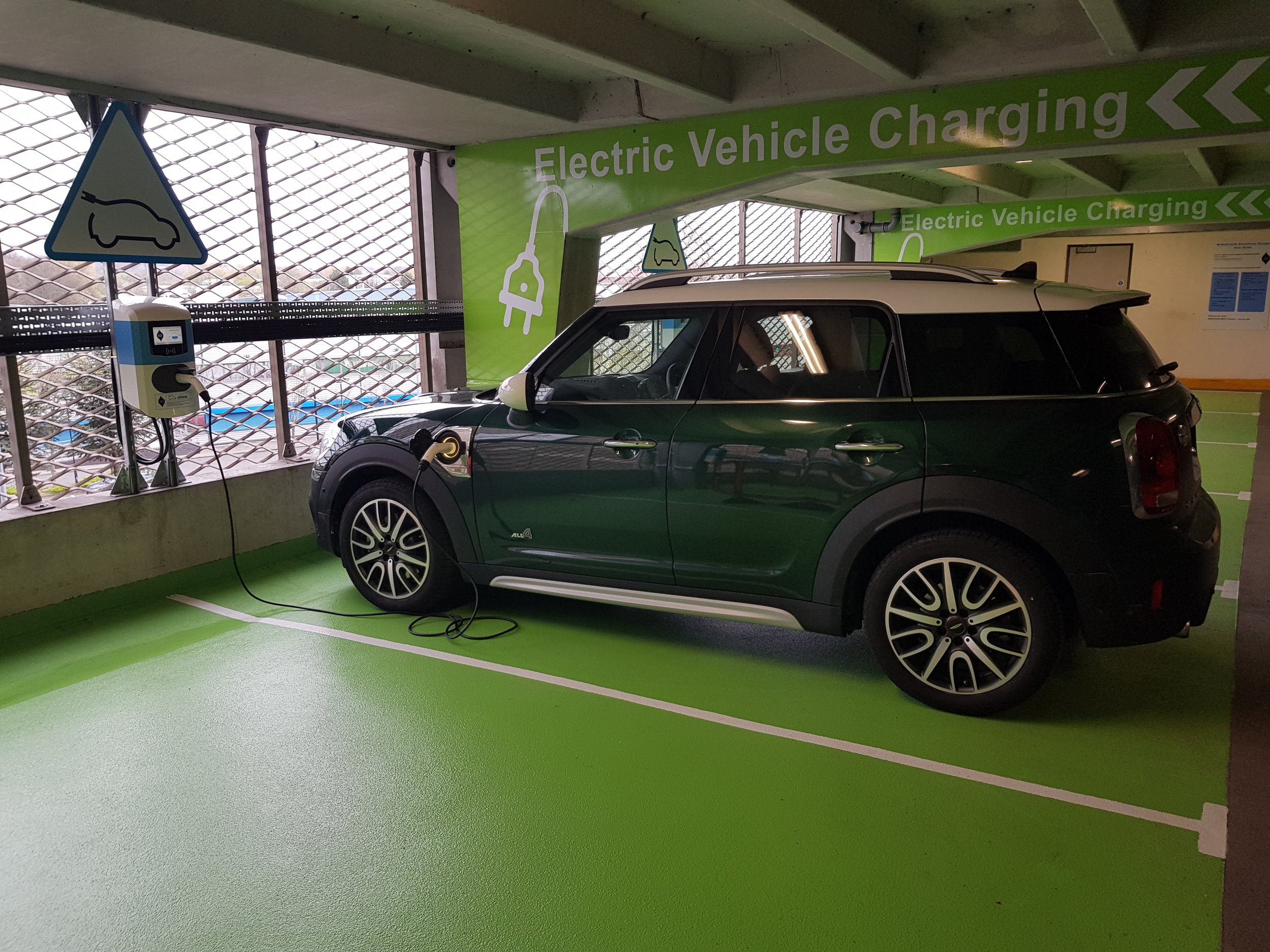 The first car at our MediaCityUK charging bays.