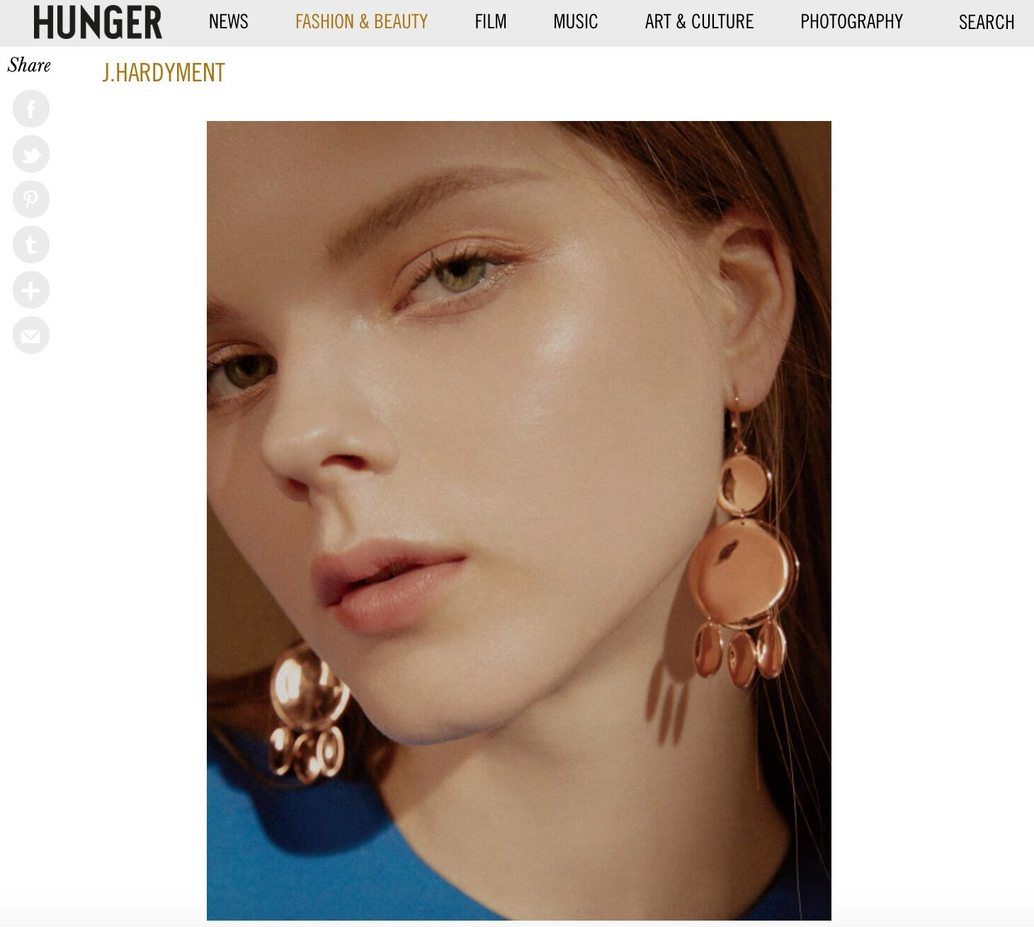 """Hunger Mag Online, """"5 Rising Jewellery Designers Inspired by Contemporary Art and Architecture"""""""