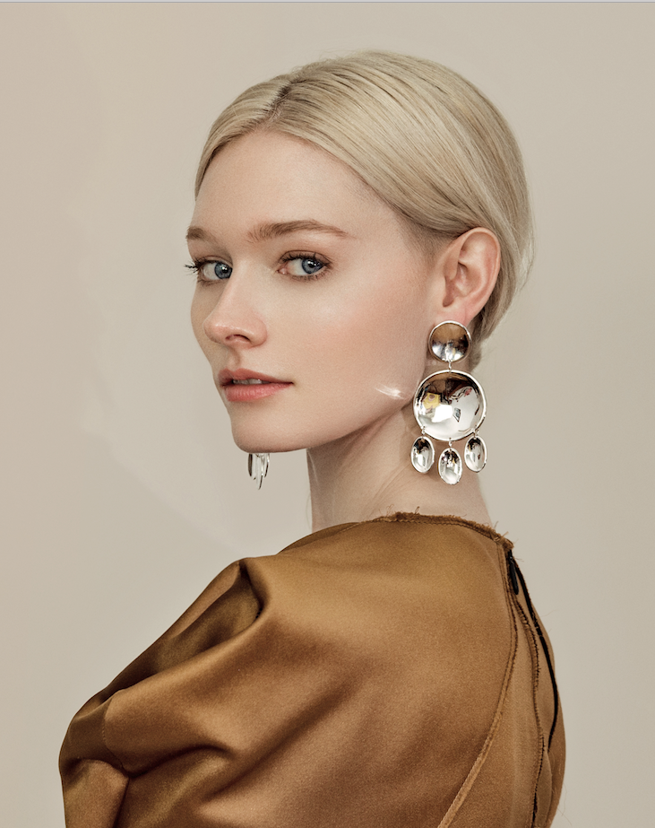 Chandelier earrings updated - modern, minimal, unexpected.
