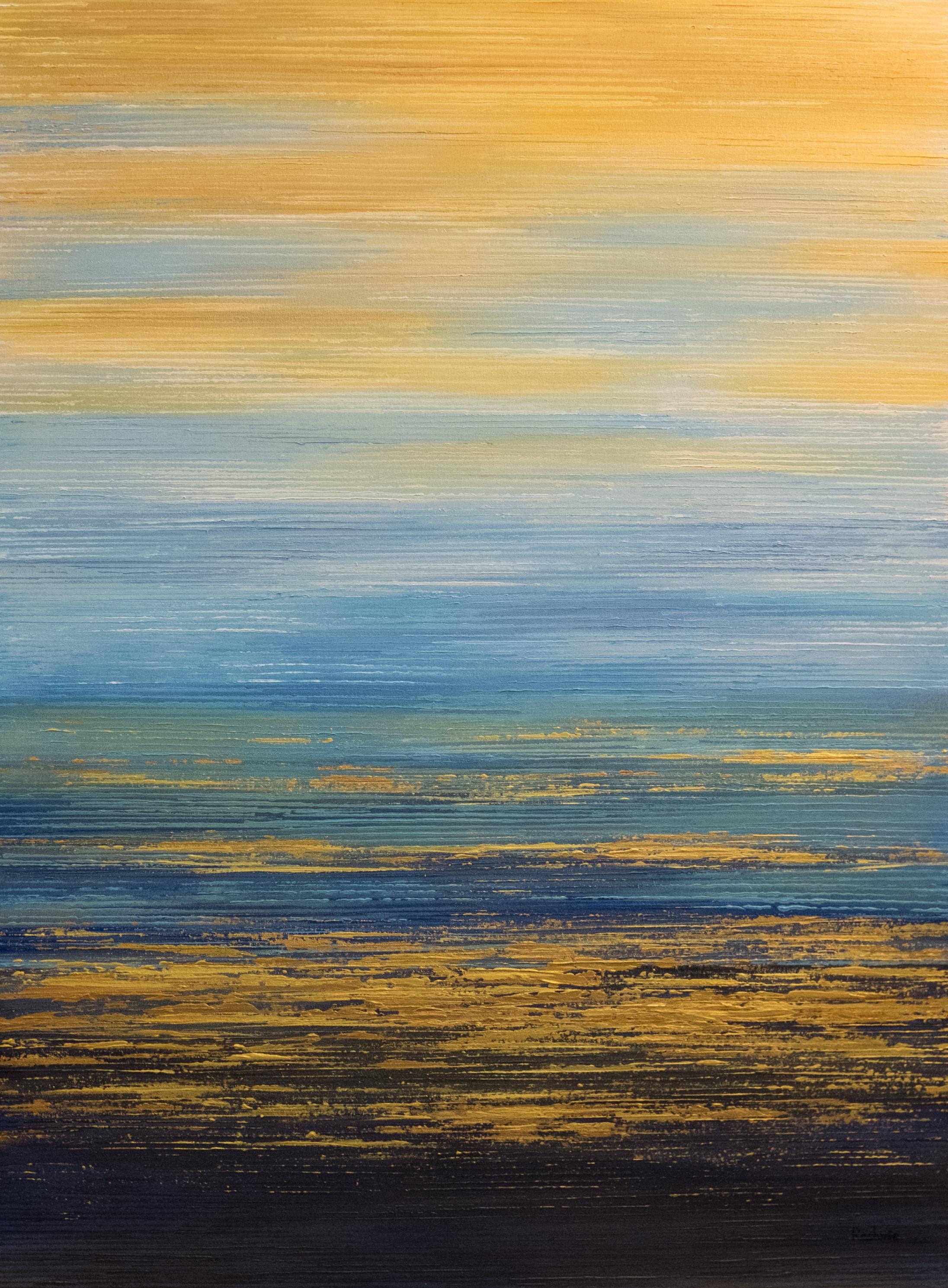 Seascape VII - Sky Blue/Gold - 2015