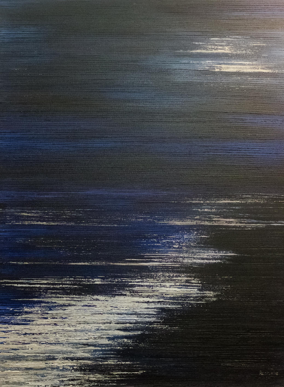 Seascape VIII - Midnight Blue/Silver -2015