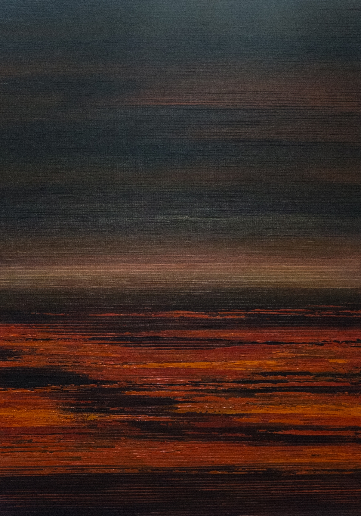 Seascape II - Flaming Red/Brown/Black - 2015
