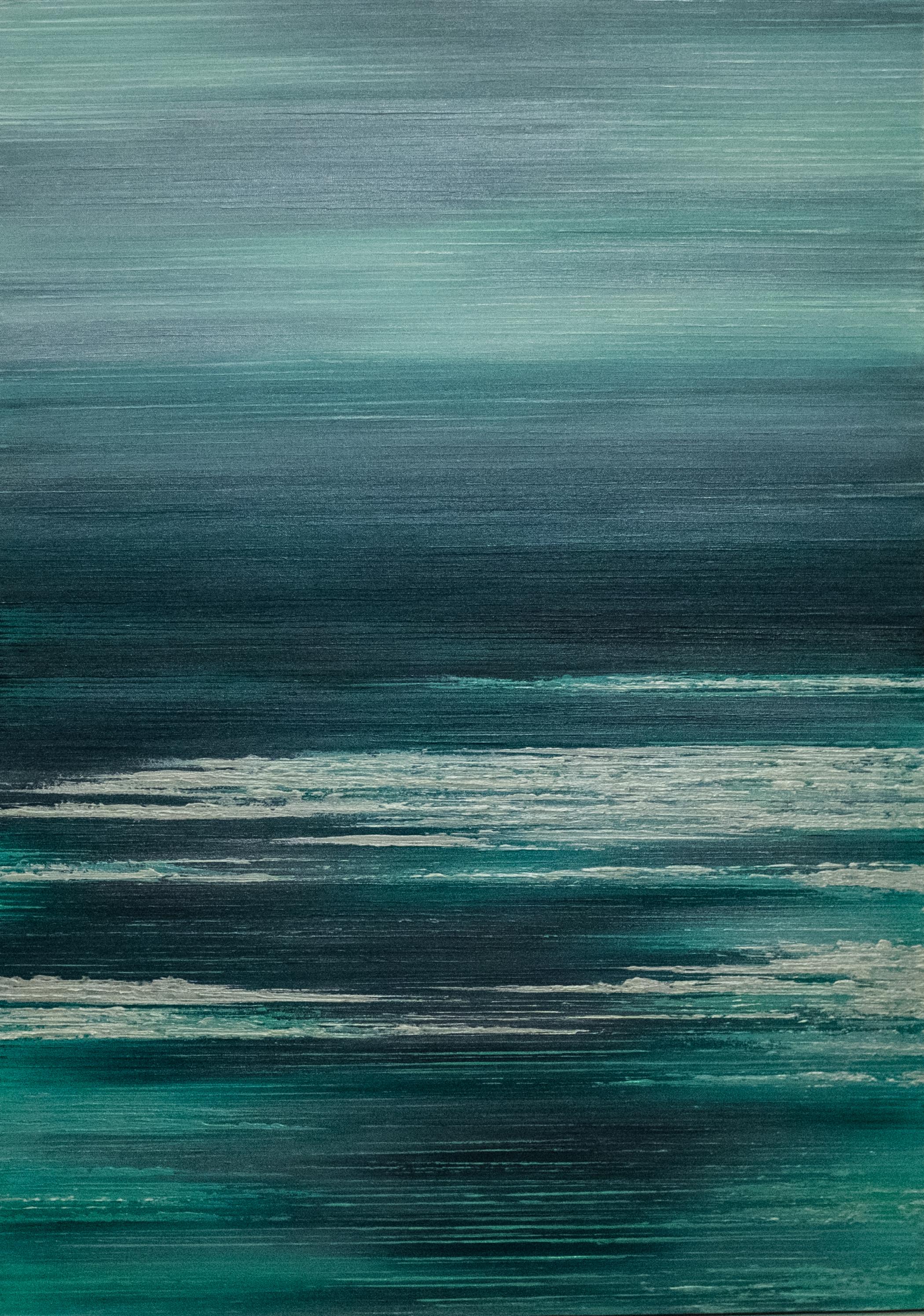 Seascape III - Sea Green/White - 2015