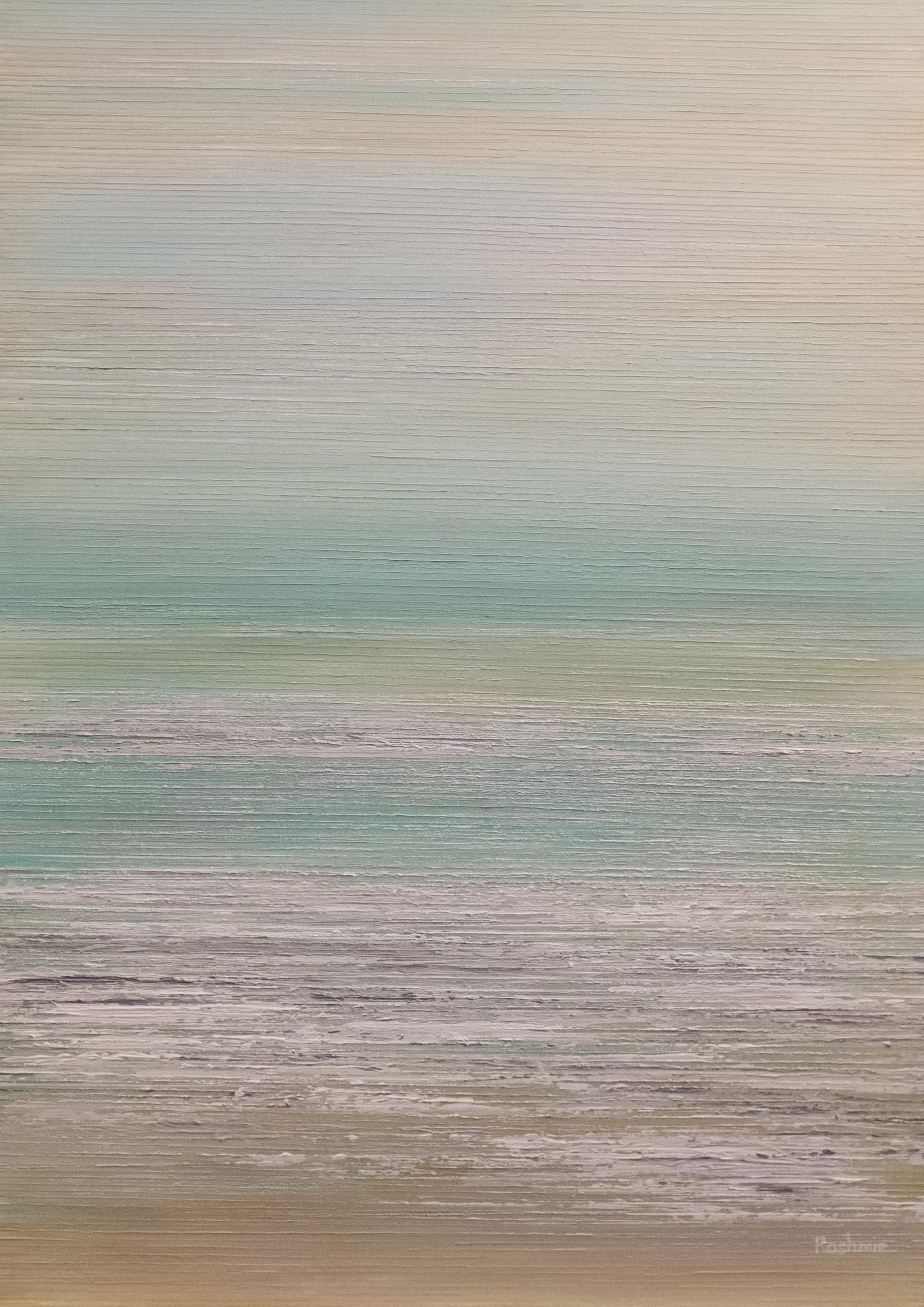 Seascape IV - Silver/Aqua - 2015
