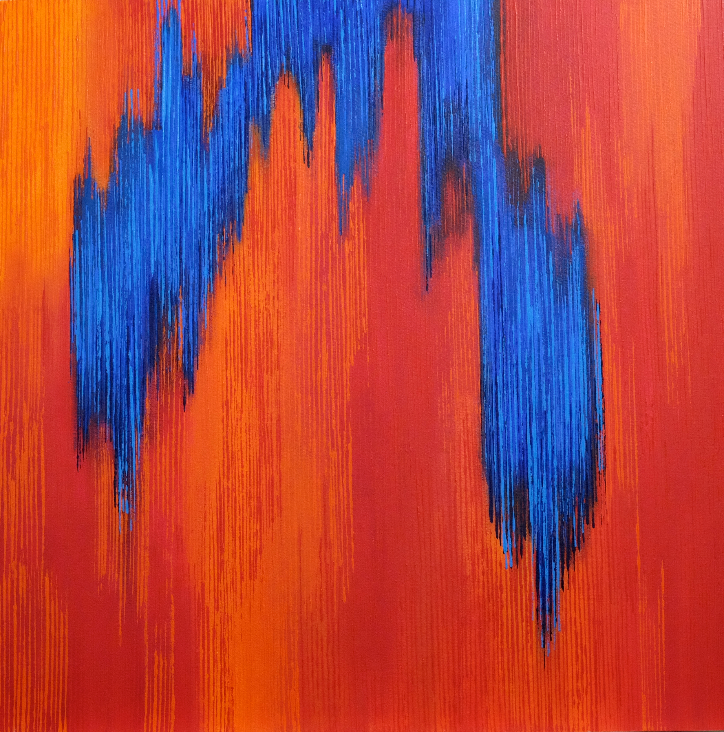 Linescape I - Red/Blue -2014