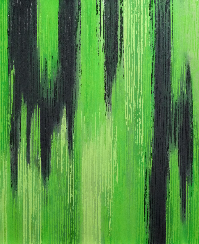 Linescape IV - Green/Black - 2014