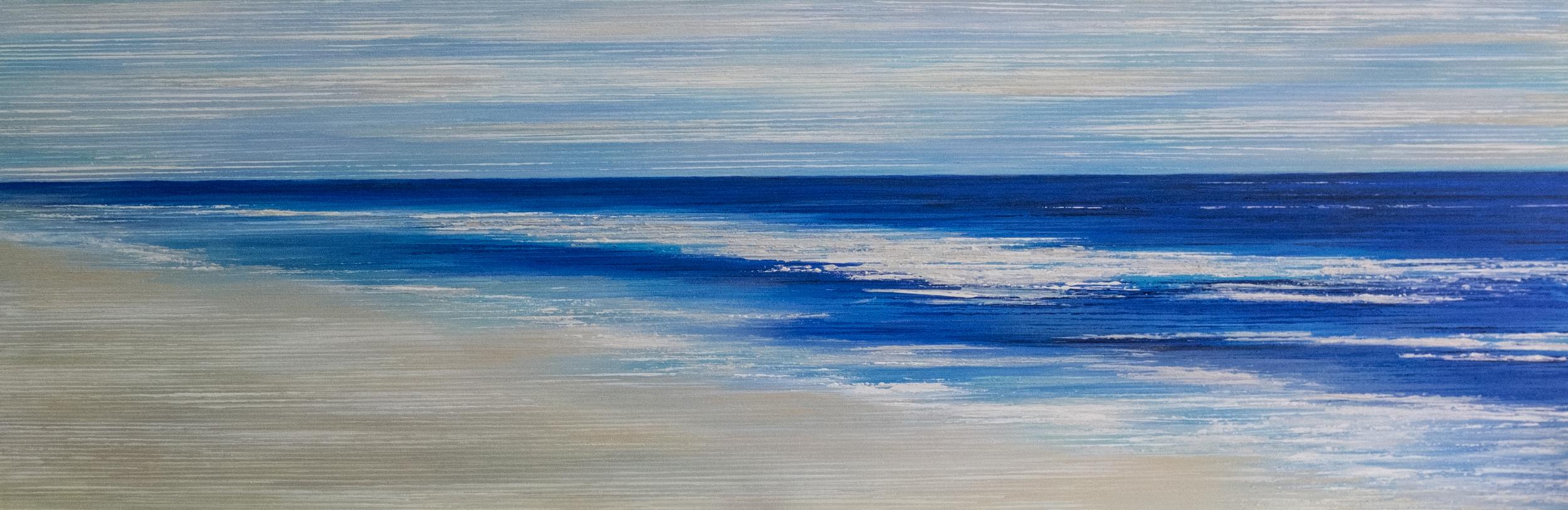Seascape I - Ultramarine Blue and White - 2015