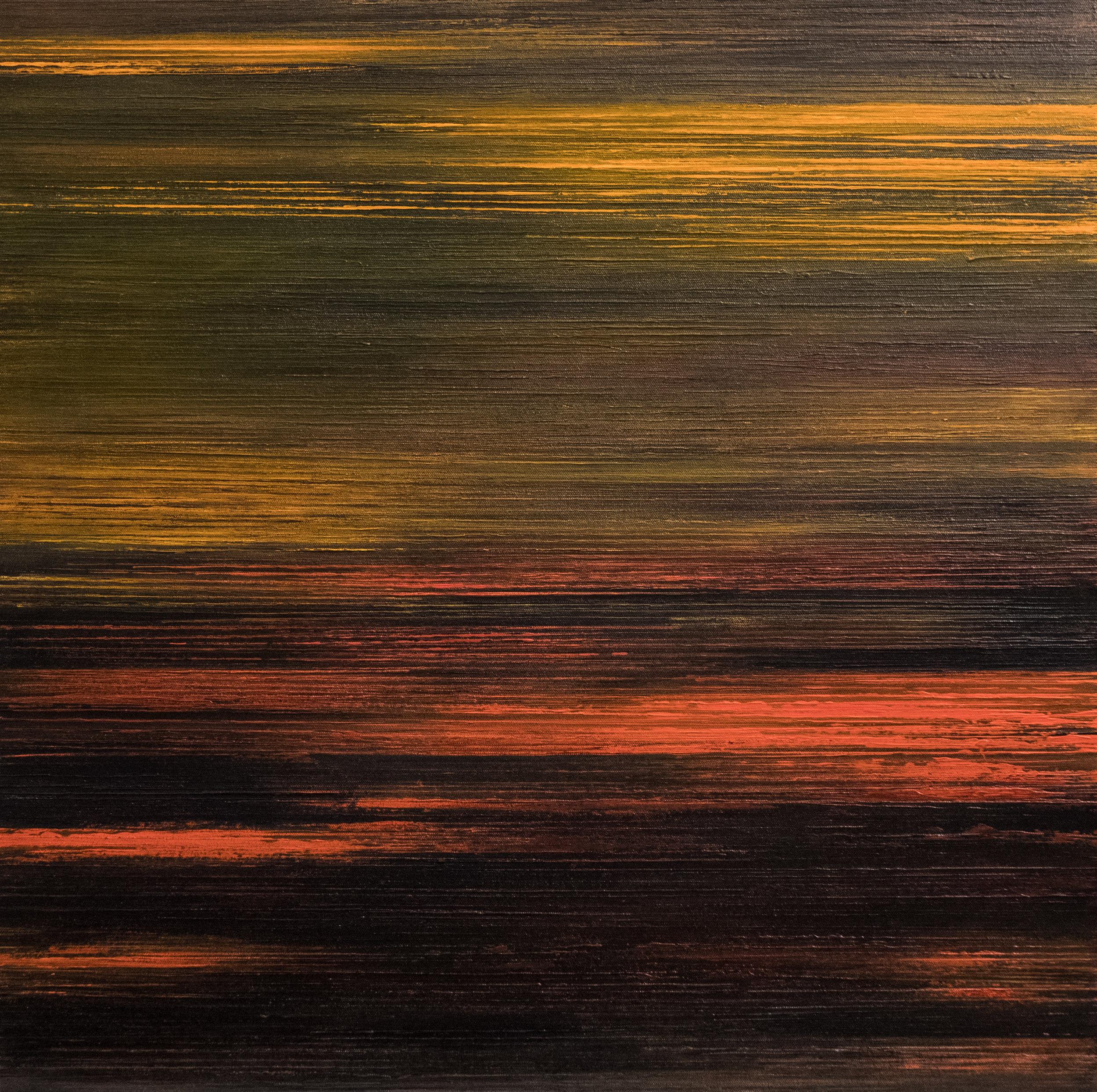 Linescape V - Orange/Brown/Yellow 2016