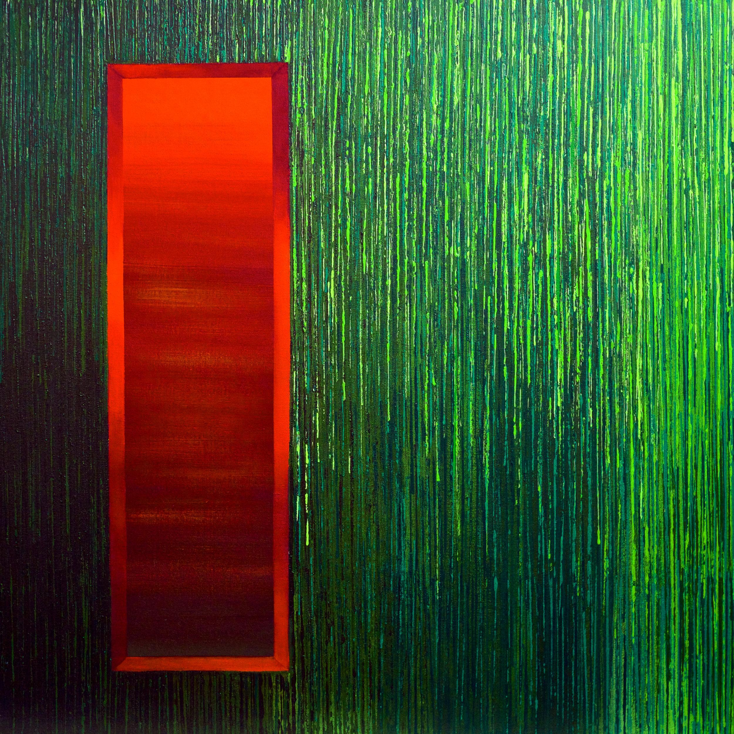 Linescape VII | Green-Orange | 2014