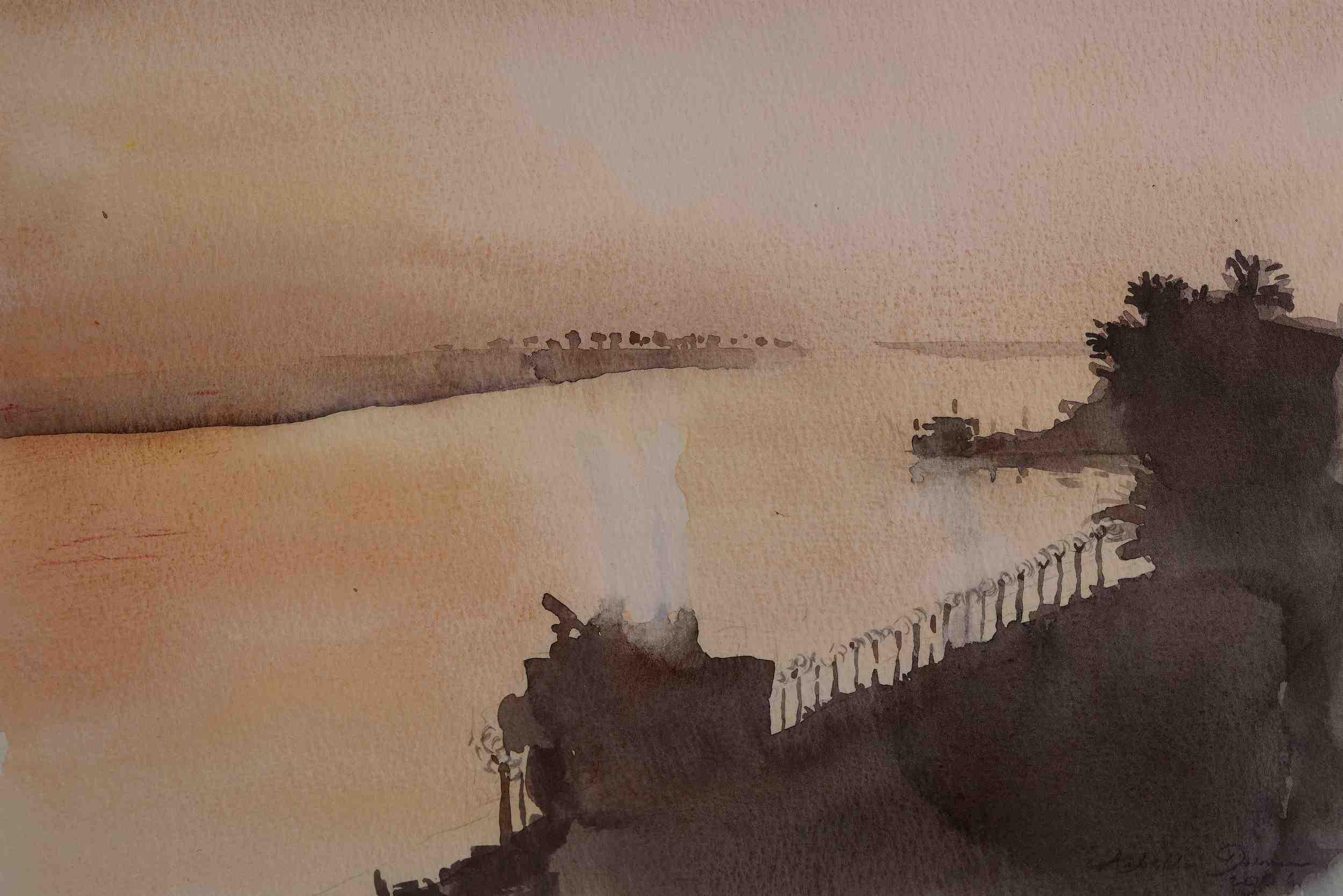 Dawn Rises Over The Shaat-Al-Arab, 2006, Iraq
