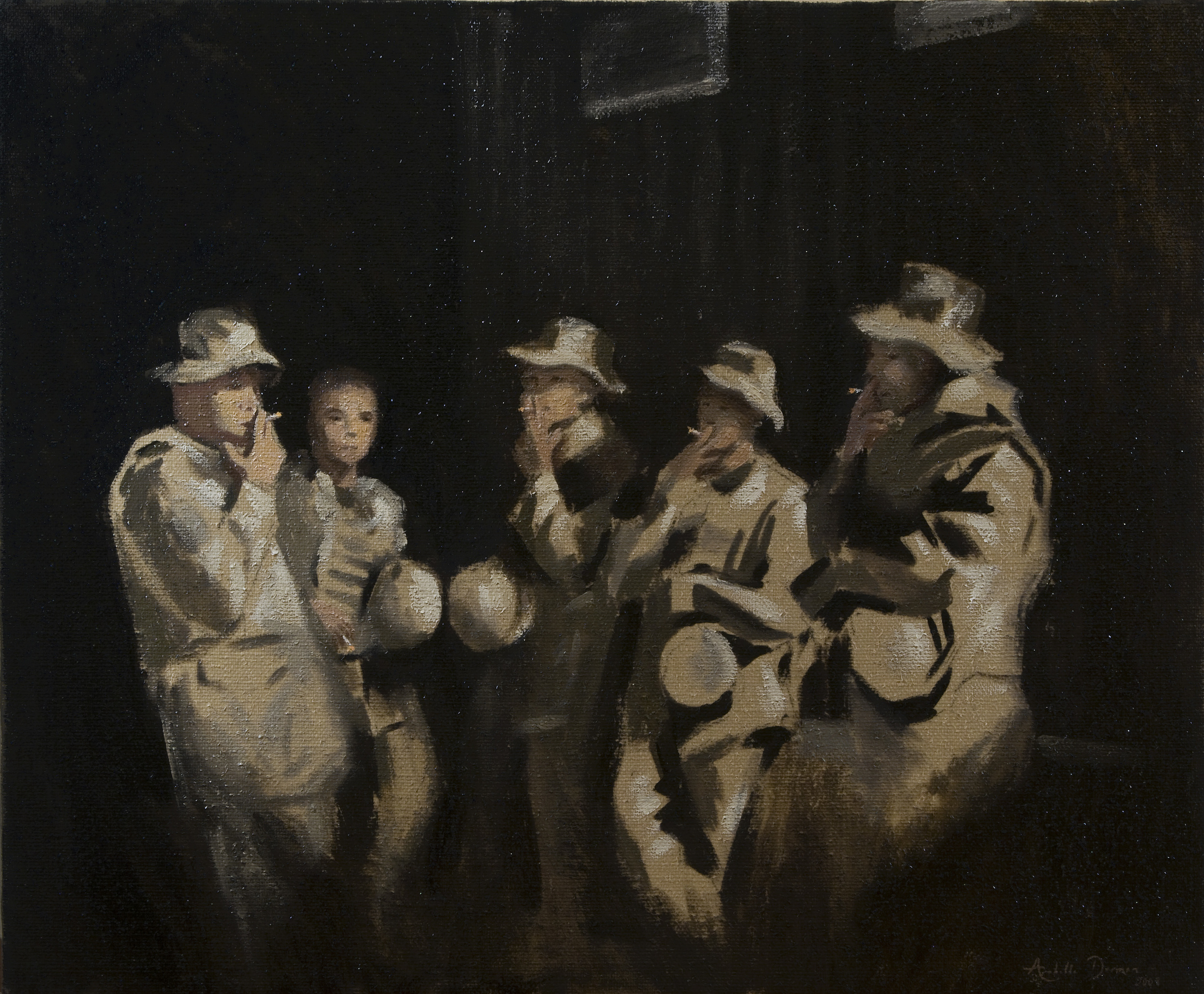 A Moment's Respite for The Queen's Own Gurkhas,Shaibah Oil on canvas, 24 x 30, Collection of The Queen's Own Gurkhas, Iraq