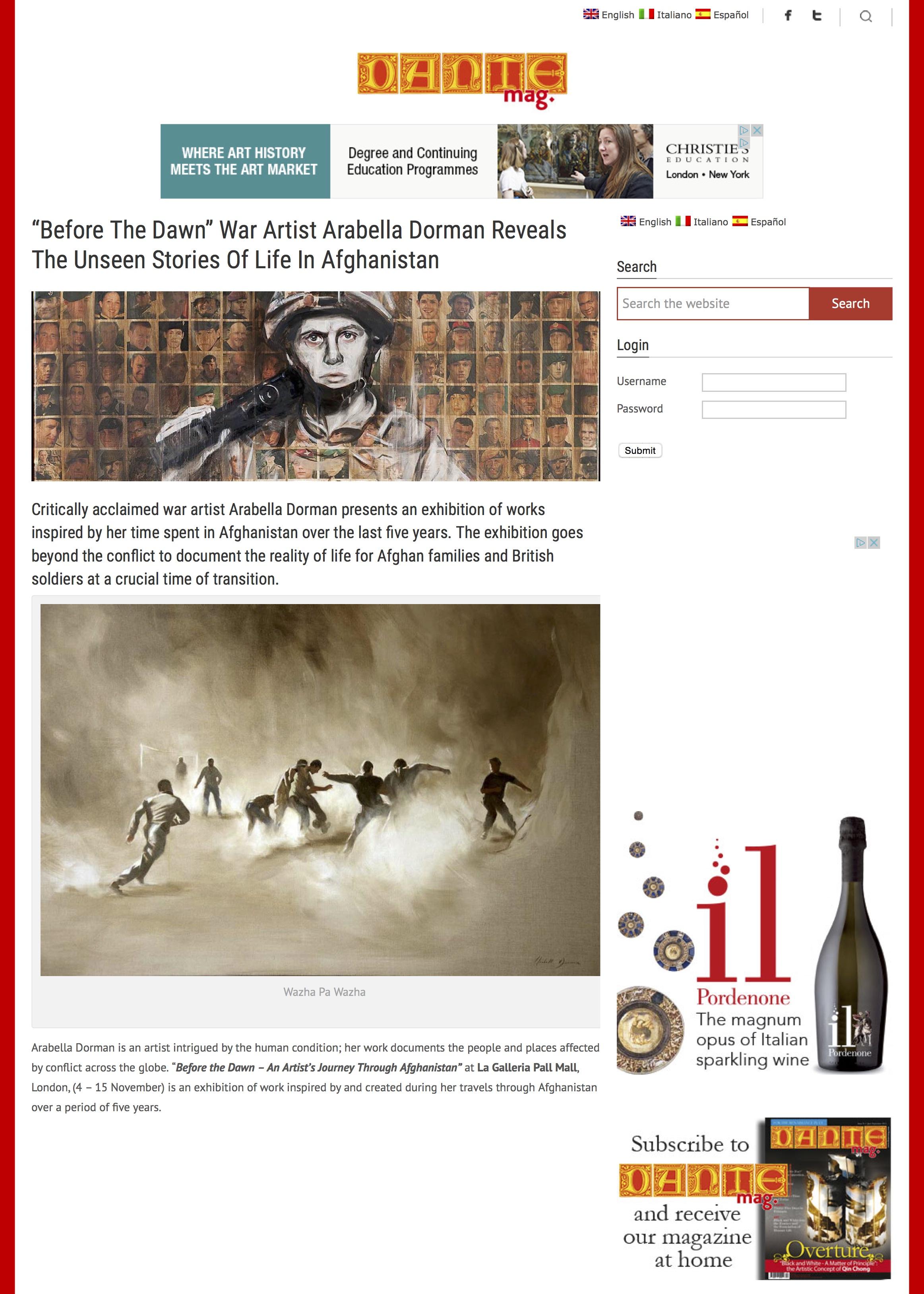"""Before The Dawn"" War Artist Arabella Dorman Reveals The Unseen Stories Of Life In Afghanistan | DAN.jpg"