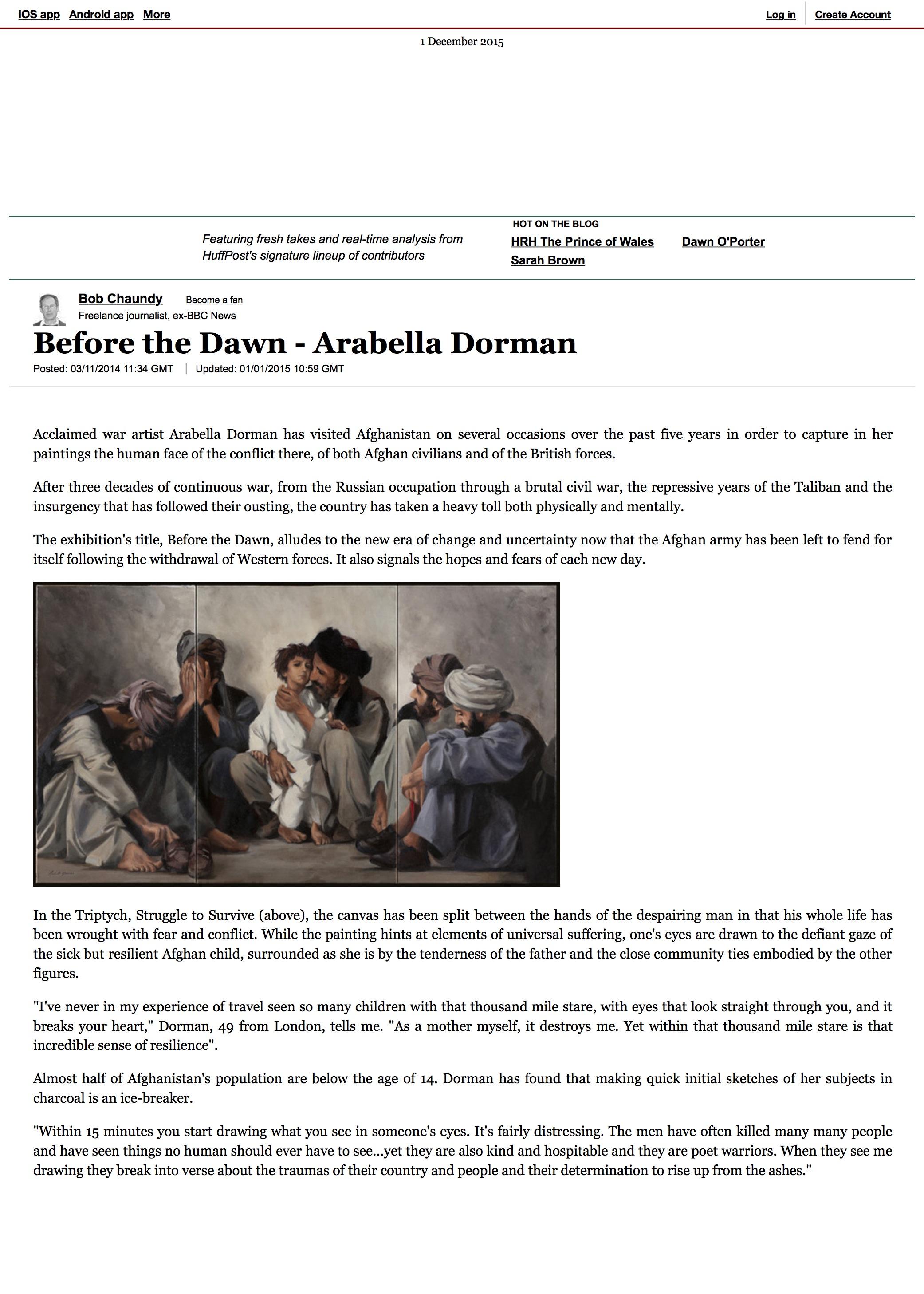 Before the Dawn - Arabella Dorman|Bob Chaundy.jpg