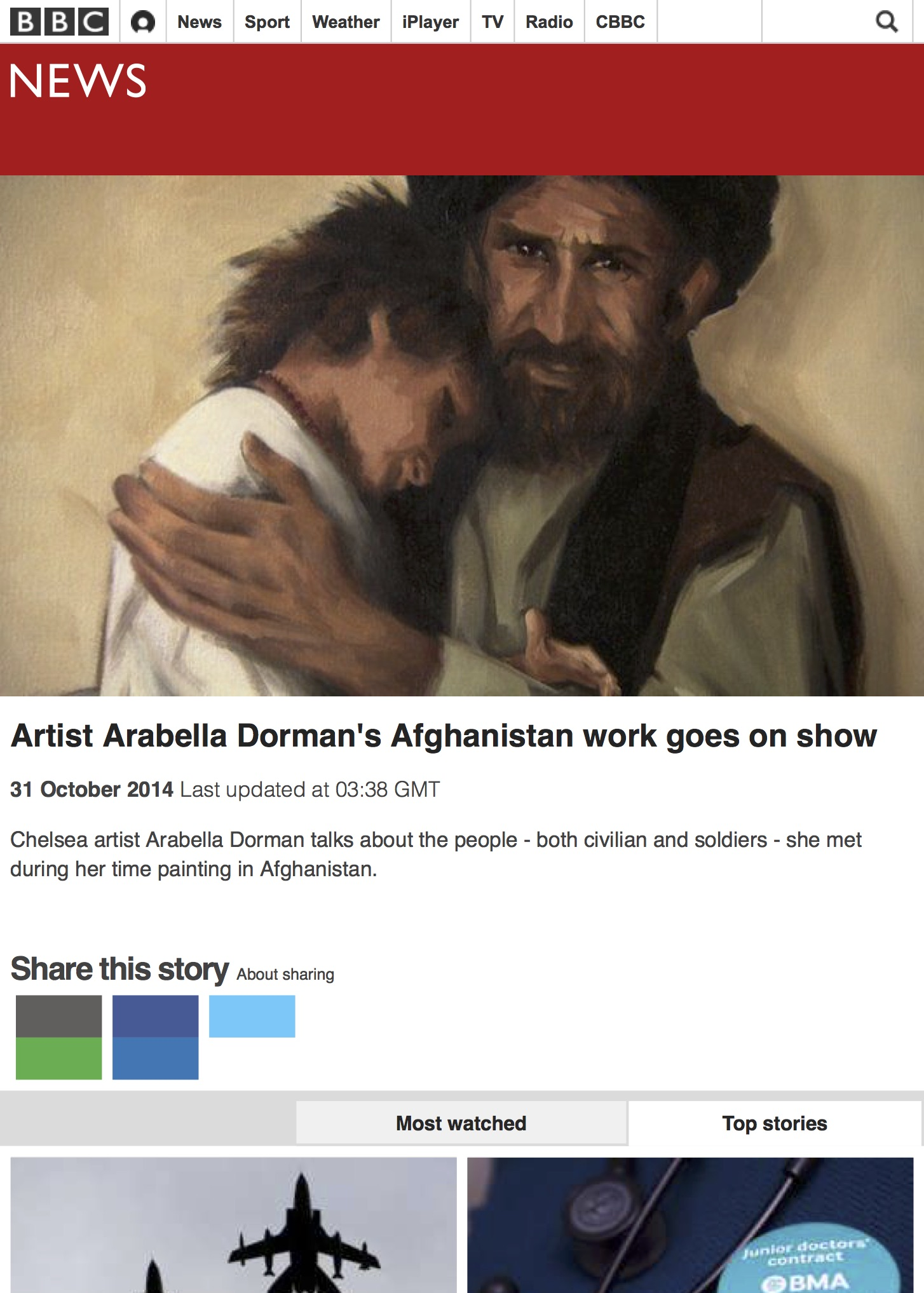 Artist Arabella Dorman's Afghanistan work goes on show - BBC News.jpg