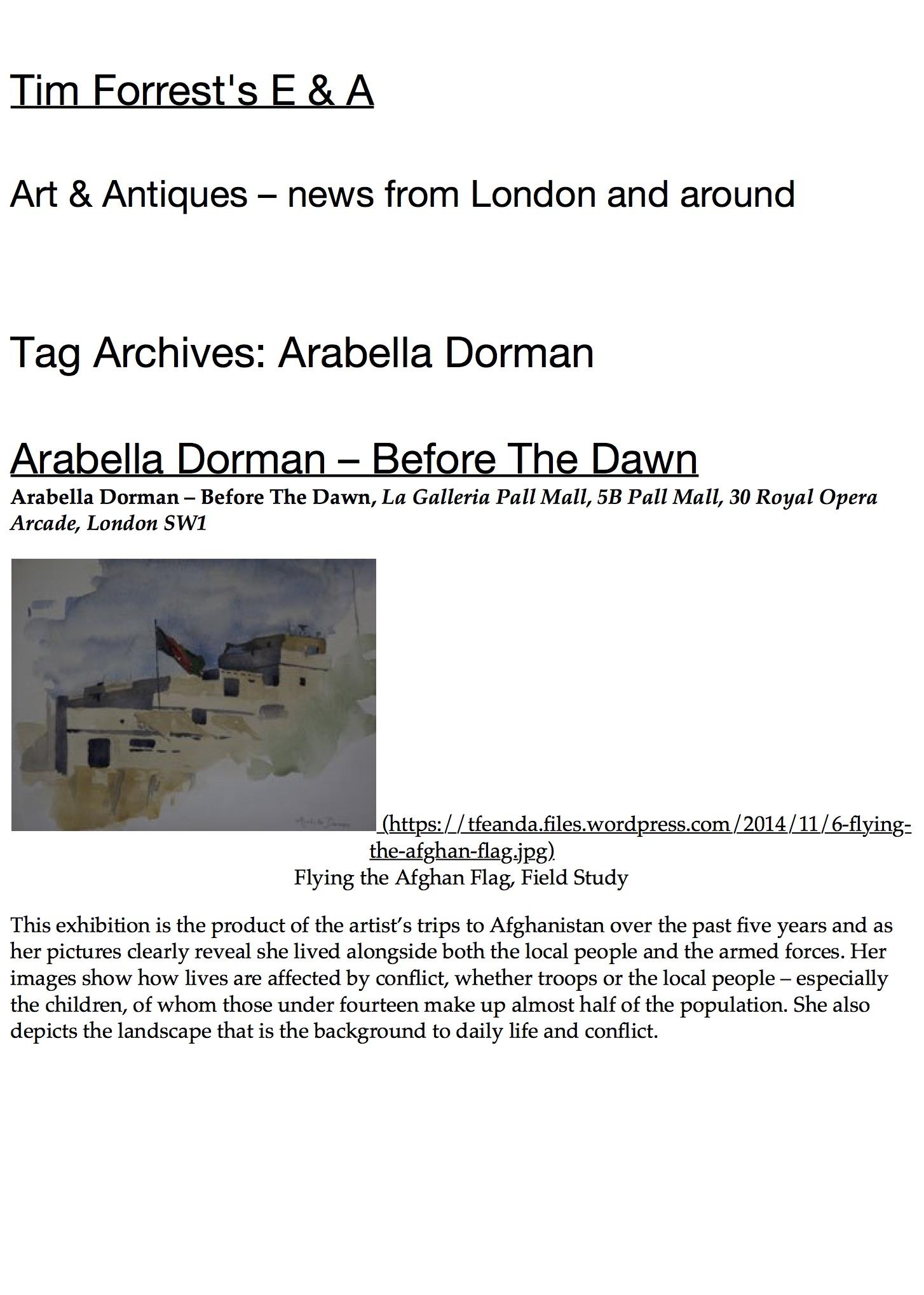 Arabella Dorman « Tim Forrest's E & A.jpg