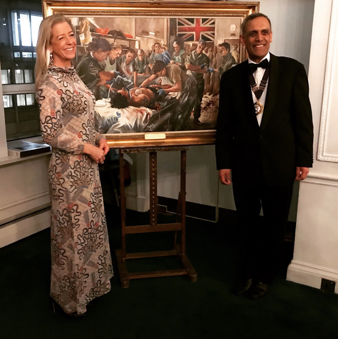 Dr Tajek Hassan unveils 'The Resus Bay' at the Army & Navy Club, London.