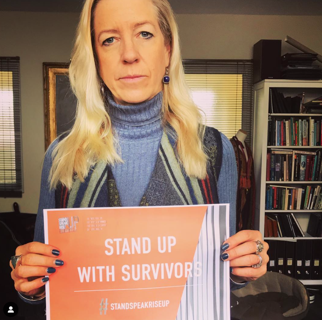 """""""We might not end war. But we will end rape as a weapon. I STAND UP with survivors. Will you too?""""    #standspeakriseup"""