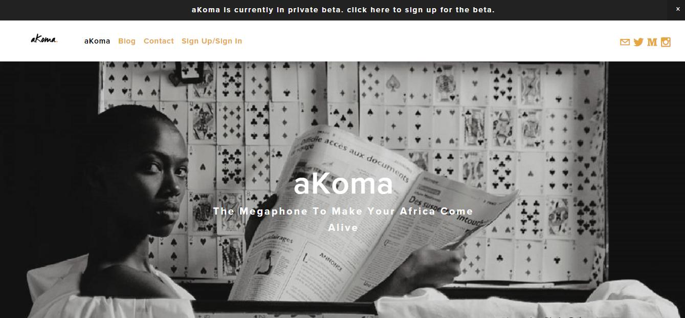 aKoma's main page