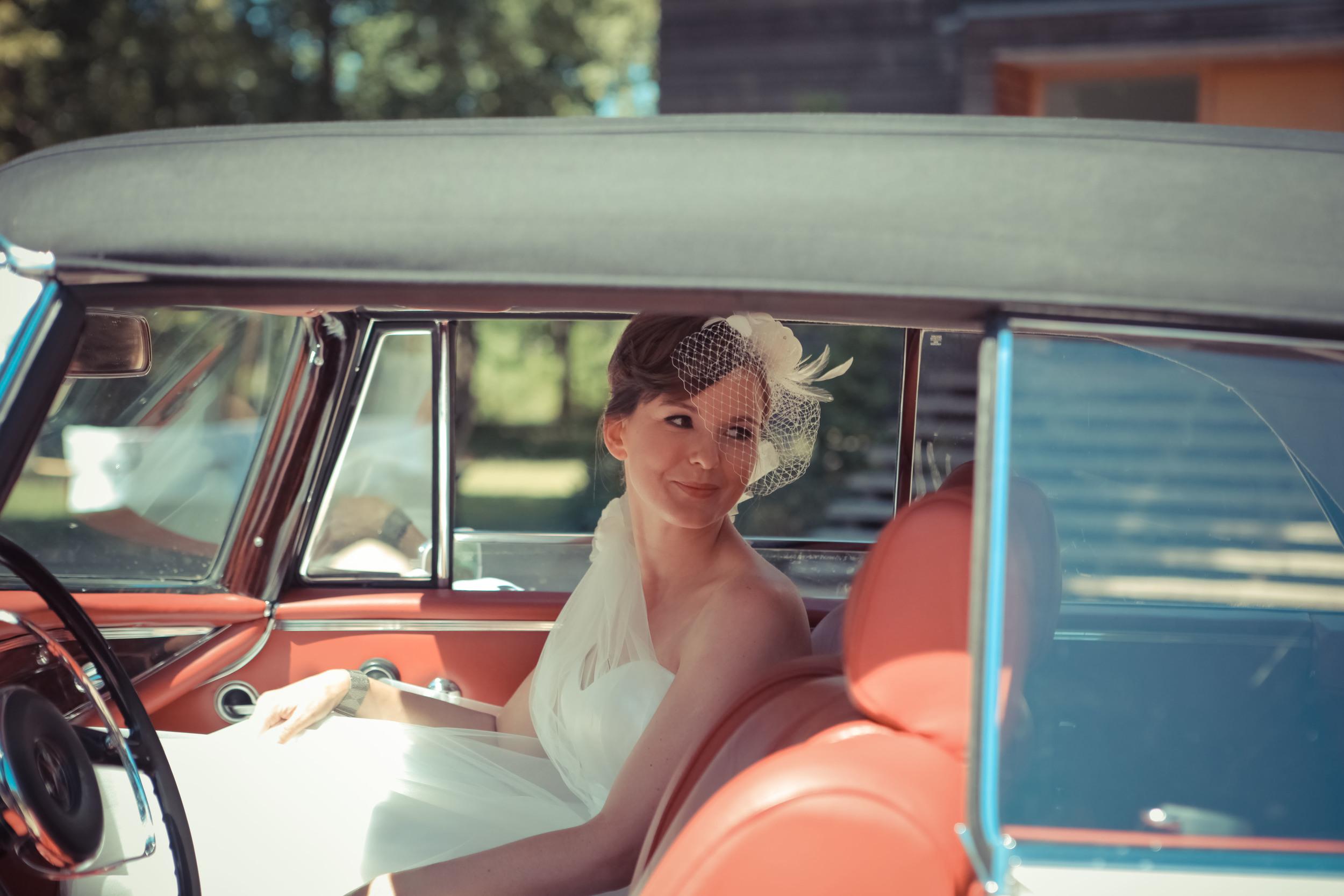 Hochzeitskleid im 50er-Jahre-Stil