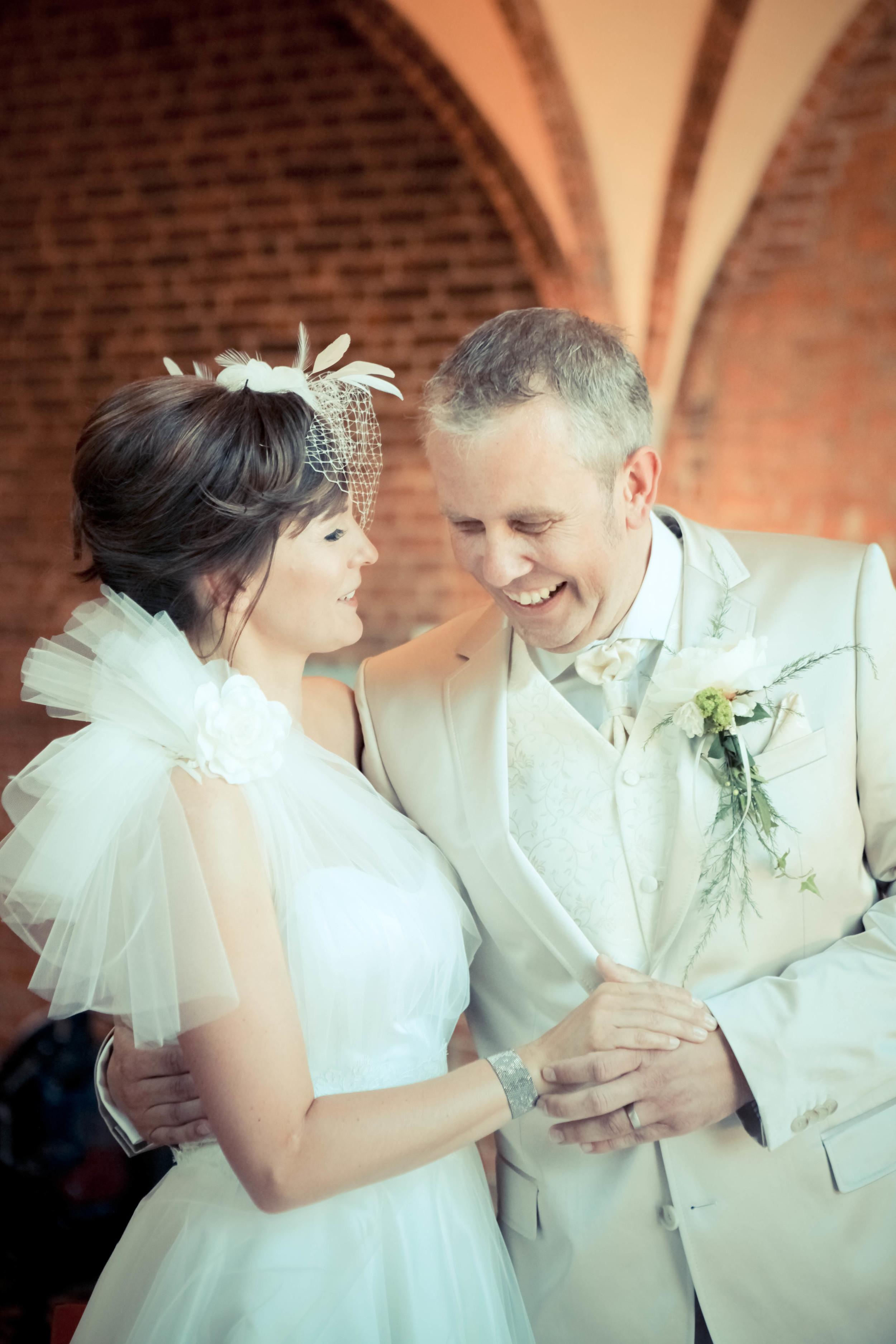 Brautkleid mit Tüllrock