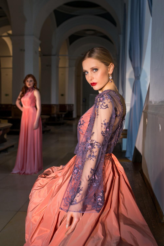 Extravagantes Designer-Abendkleid Rose — Torrox Hamburg