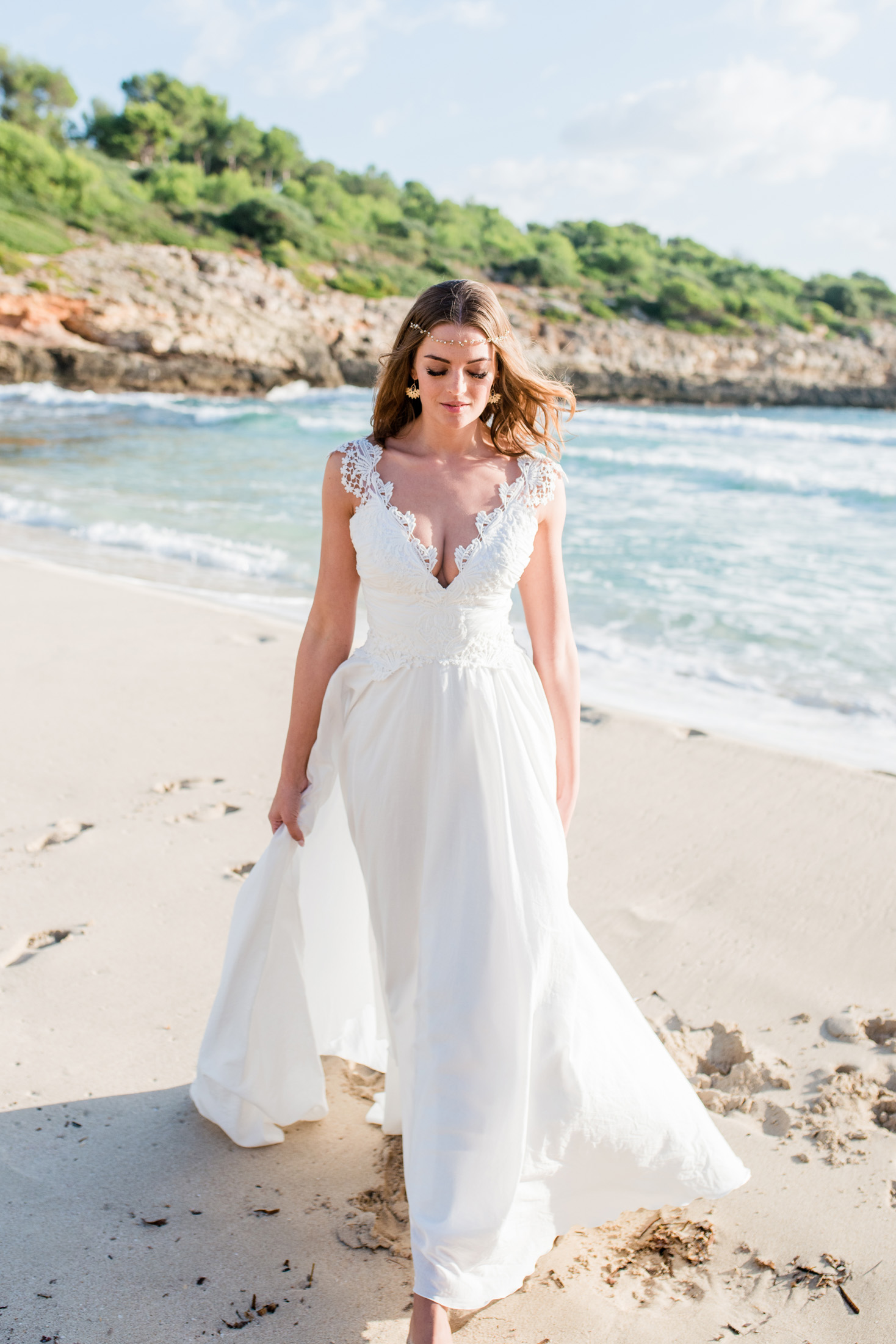 Lizzy - Zauberhaftes Vintage-Brautkleid aus Baumwolle — Torrox