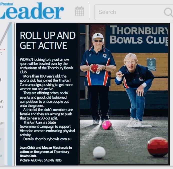 Preston Leader Article - Thornbury Bowls Club.jpg