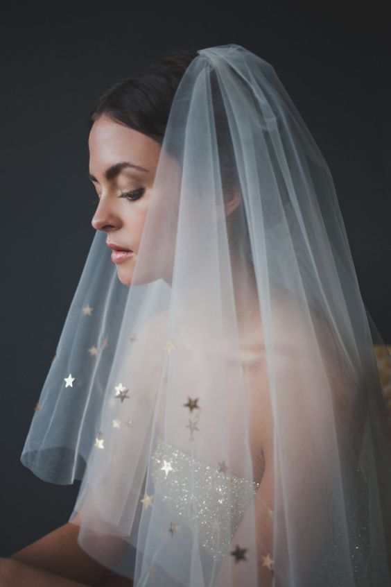 hair veil bride star