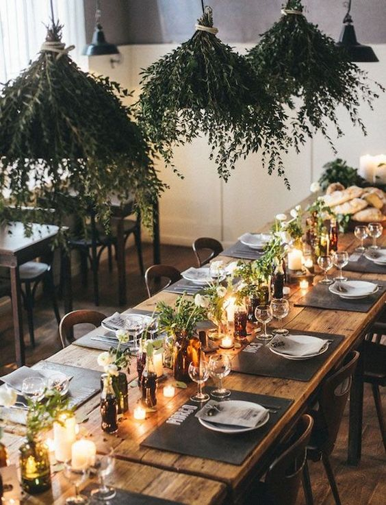 danish scandi table wedding