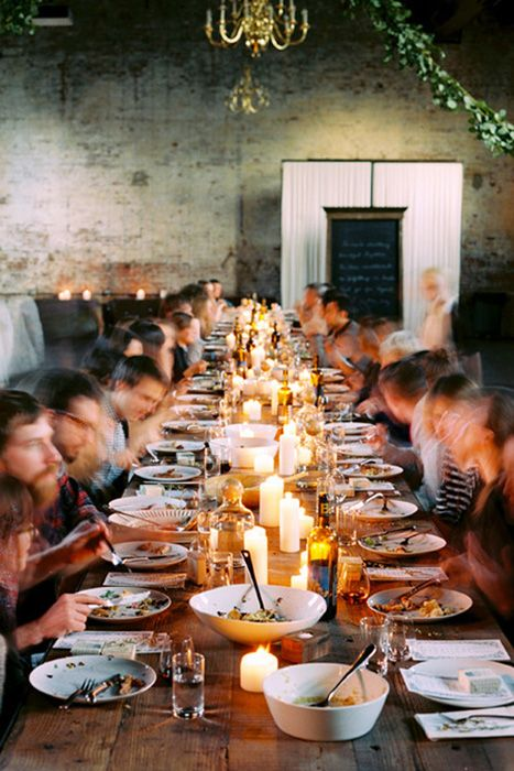 family style dining wedding