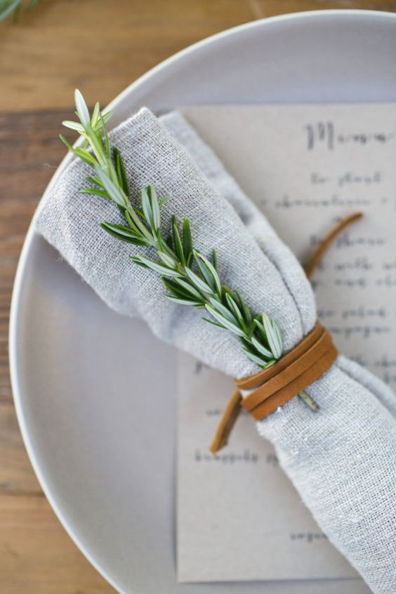 napkin grey wedding