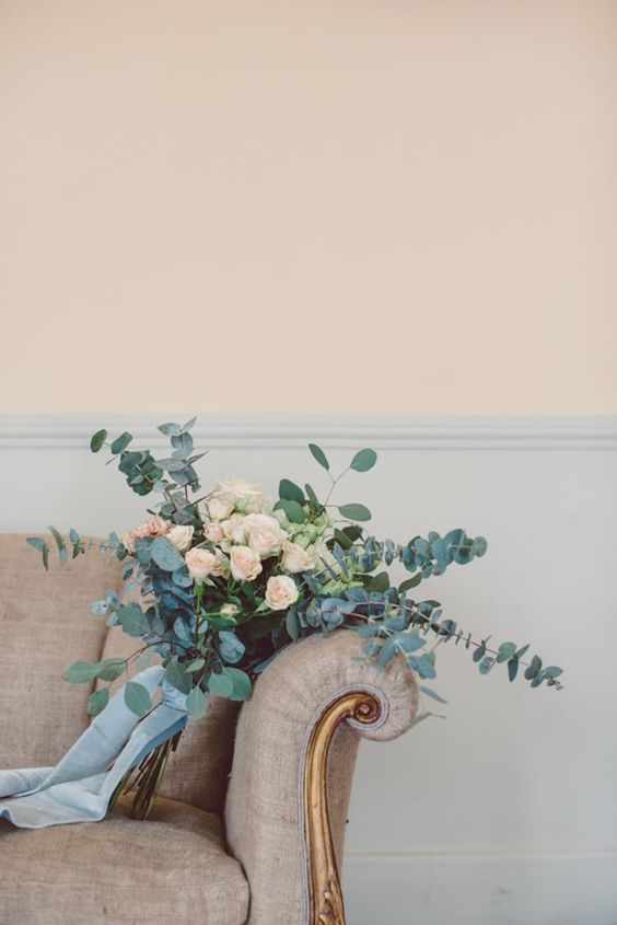 blush blue wedding