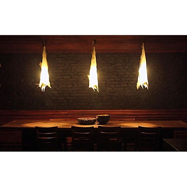 Uggi lighs in Restaurant Sauvage a paleo restaurant in Prenzlauer Berg in Berlin 2014. - - - #inspiredbyiceland #codlamps #torsk #þorskur #amp #light #berlin #2014 #restaurant #cod #art #design #installation #sauvage #paleo #prenzlauerberg #prenzlauerbergberlin
