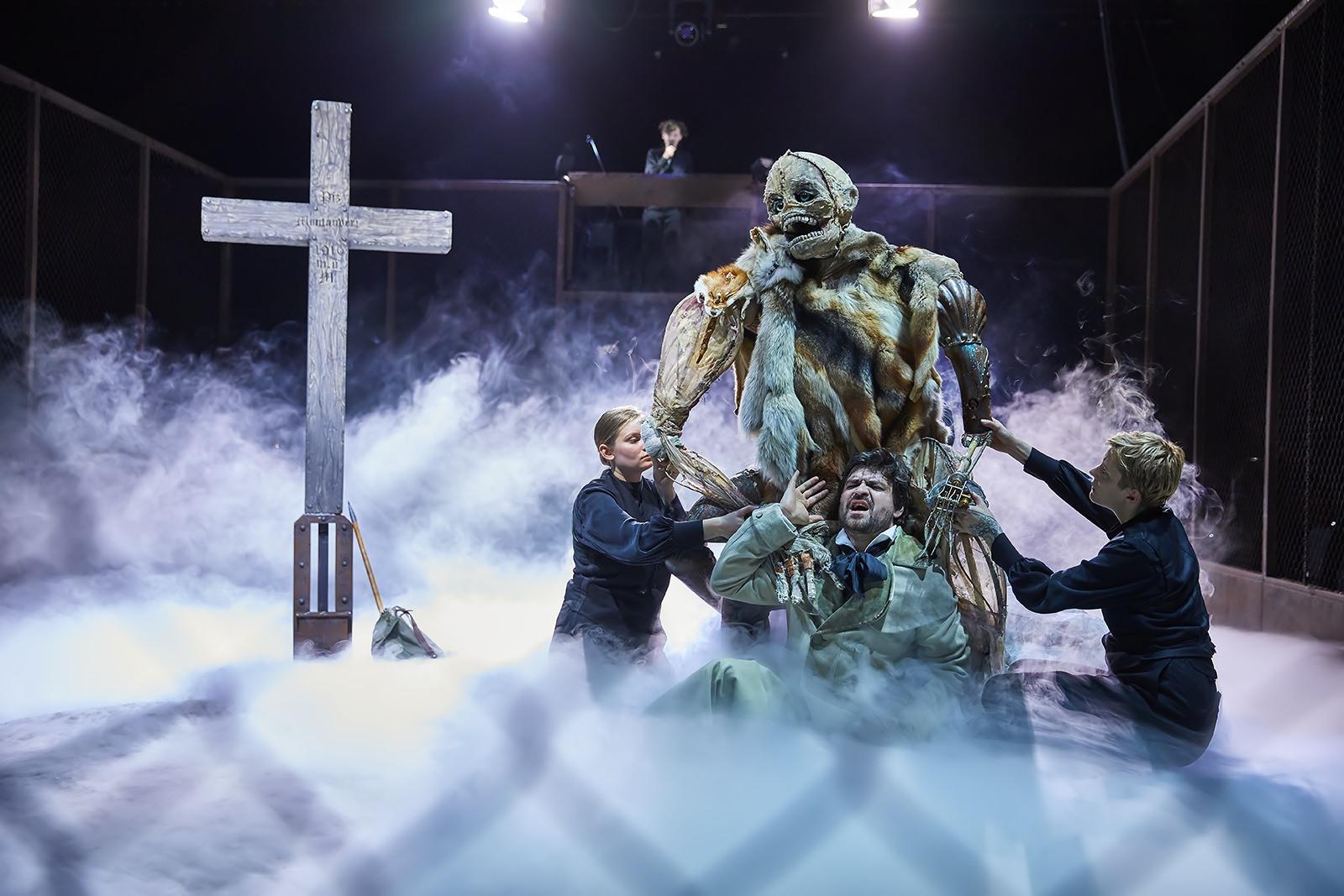 Frankenstein  ,  Staatsoper Hamburg    Viktor Rud ; Puppeteers, Catrin Striebeck