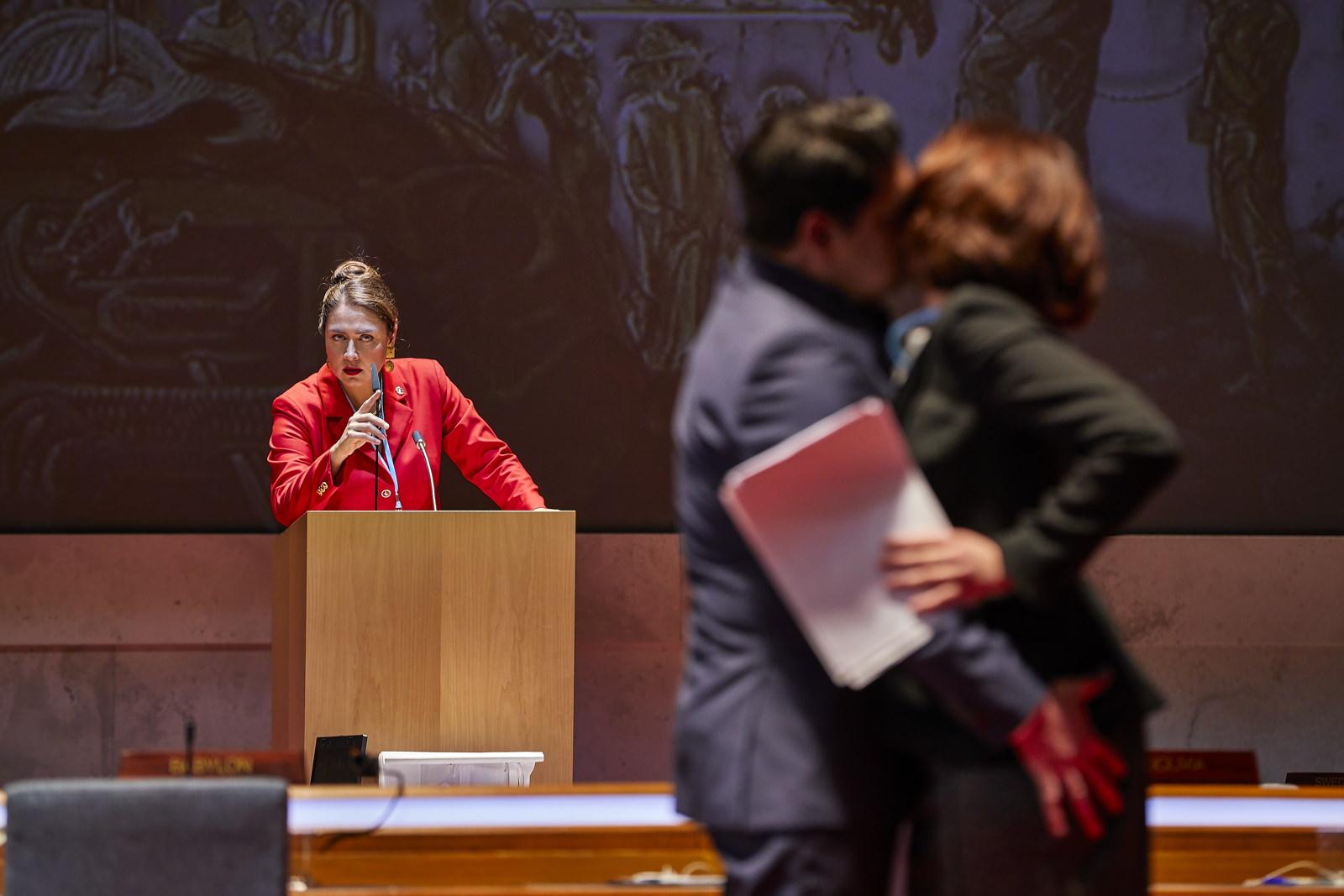 Nabucco  ,  Staatsoper Hamburg    Oksana Dyka ,  Dovlet Nurgeldiyev ,  Géraldine Chauvet