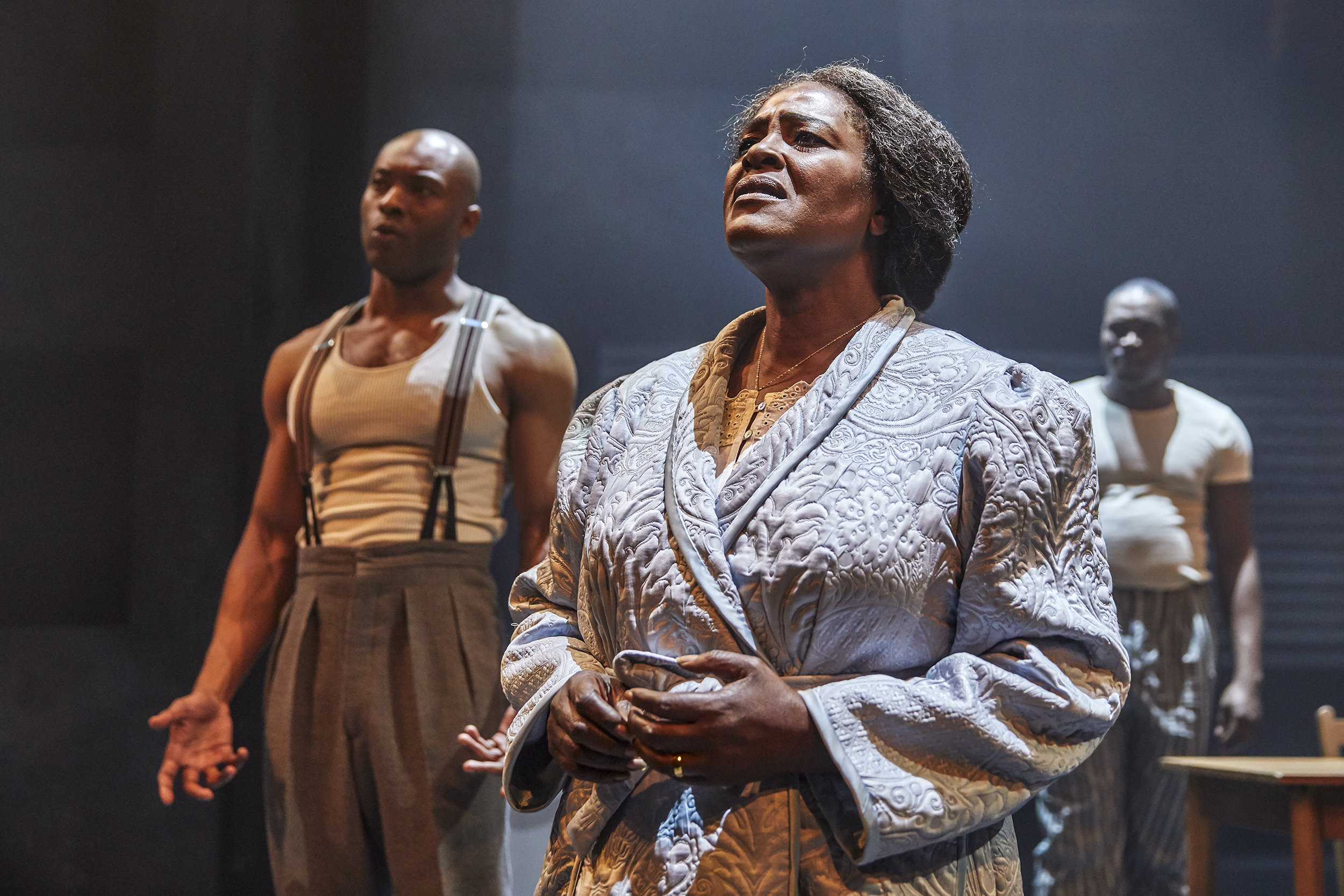 Death Of A Salesman , Young Vic, London   Arinzé Kene ,  Sharon D. Clarke ,  Martins Imhangbe