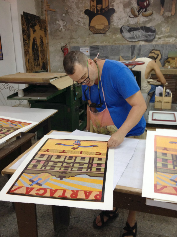 Here, we visited a printmaking workshop with a gallery attached.French Neoclassical and Spanish Colonial architecture dominate much of the country.