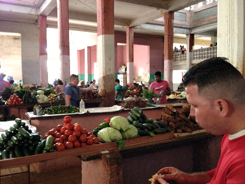 Our guide lead us through this market where folks use their own money to purchase produce, rice, beans, meats, spices and herbs to supplement their government-issued rations. I can still smell fresh chives, mint and parsley.