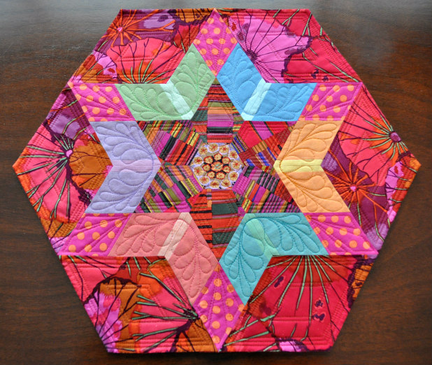 "My ""Reading Circle"" mini quilt for Heather Givens of Crimson Tate"