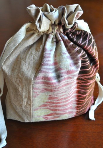Beautiful OOAK drawstring bags in   the shop
